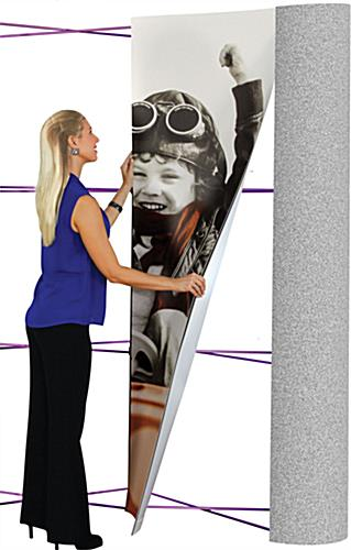 10' trade show wall with 4 graphic panels