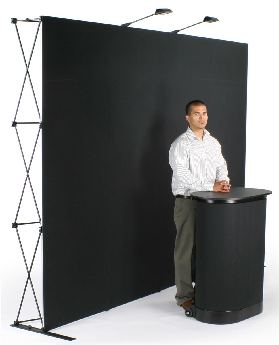 Displays2go 10' Pop Up Display with Hook-and-Loop Fabric,...