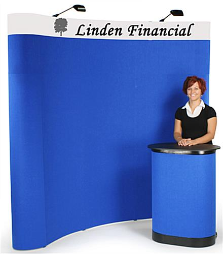 curved trade show booth