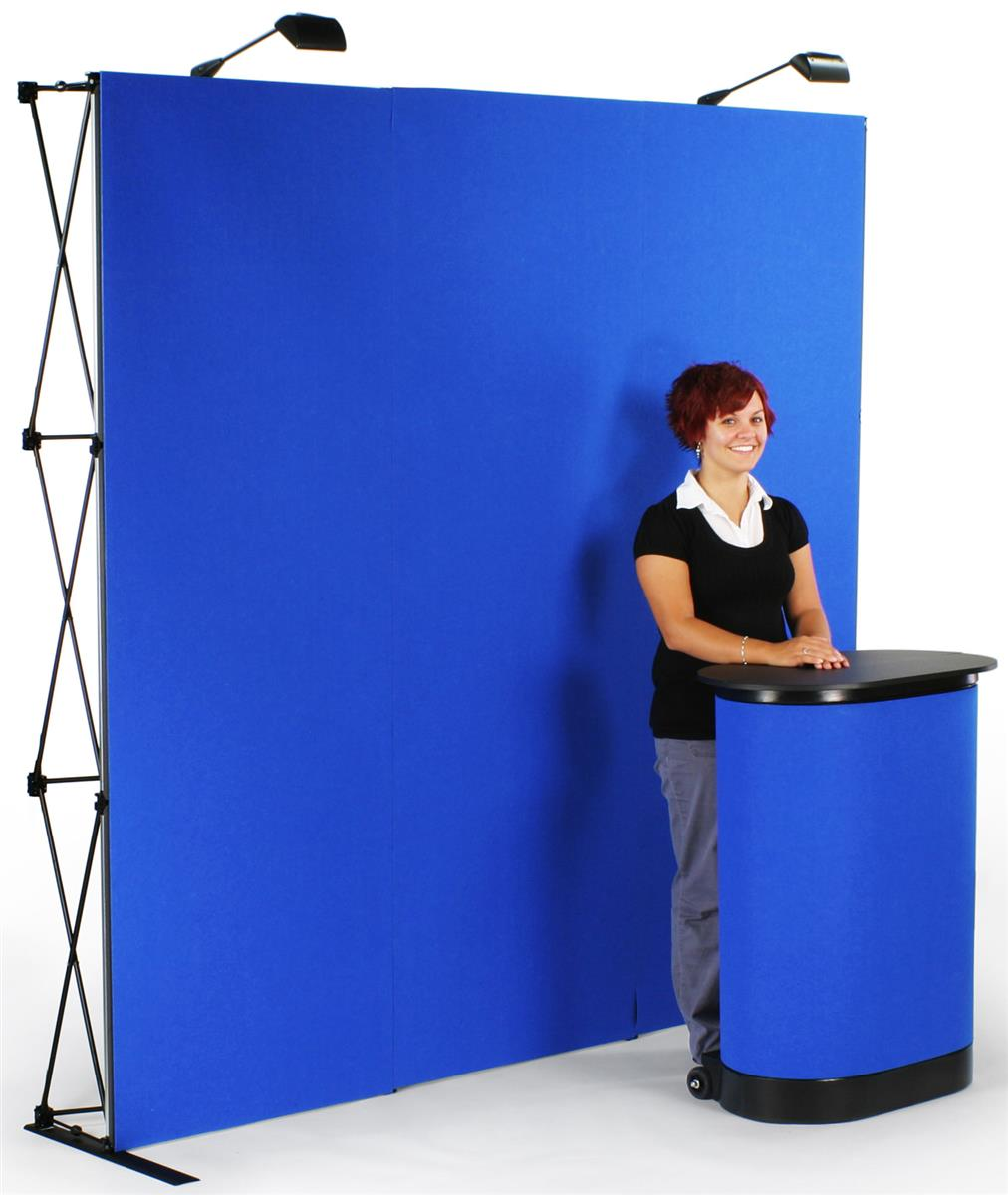 Trade Show Booth Loop : Pop up display exhibit booth with lights case
