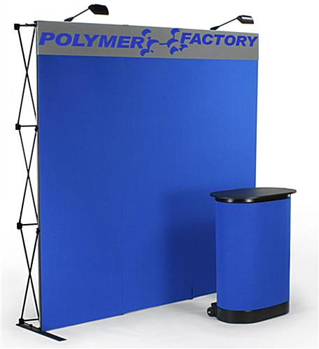 blue trade show booths