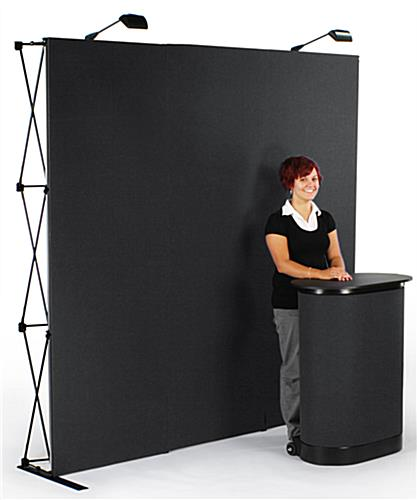 Trade Show Booth Loop : Quot display booth includes backdrop counter two lights
