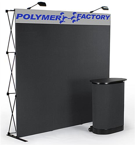 black tradeshow display