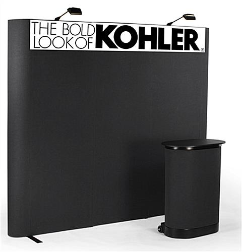 Exhibition Booth Header : Pop up display with header trade show booth backdrop wall