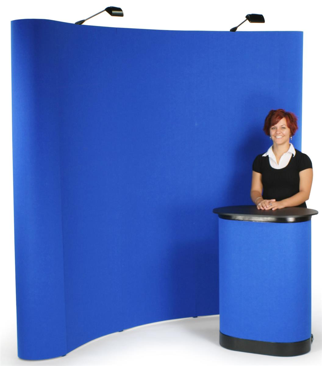 Trade Show Booth : Popup booth curved trade show display w hook loop