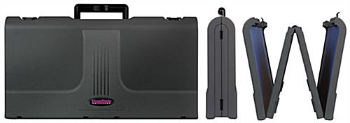 Foldable Briefcase Display with Black Fabric