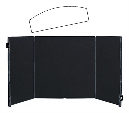 Portable Exhibition Board : Table top display portable board folds into carrying case