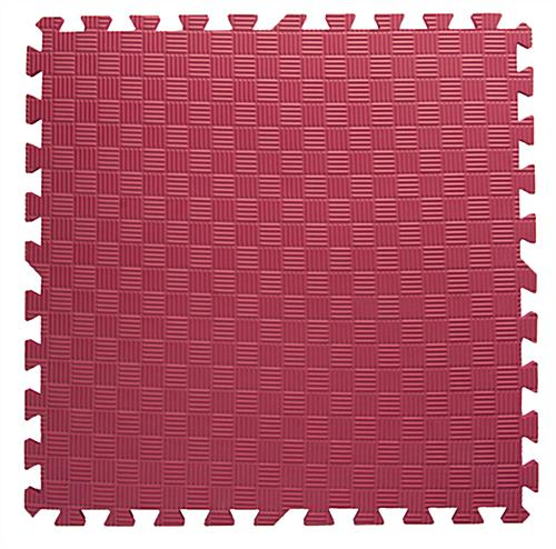 Red & Black Mix and Match Trade Show Mats with Interlocking Edges