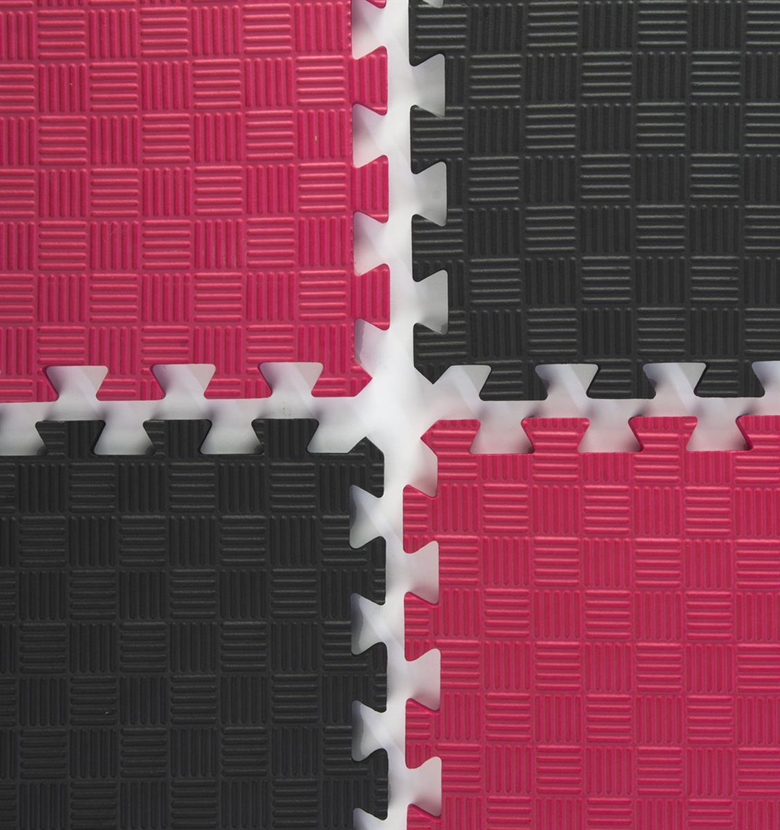 Red Amp Black Mix And Match Trade Show Mats Interlocking Tiles