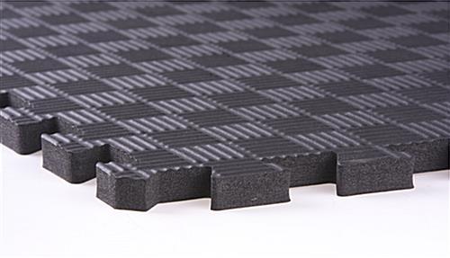 Red Amp Black Mix And Match Trade Show Mats Interlocking Tiles