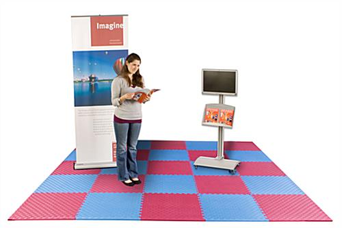 Red Amp Blue Mix And Match Trade Show Mats Interchangeable