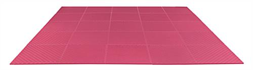 Red Trade Show Floor Tiles, Non-Toxic