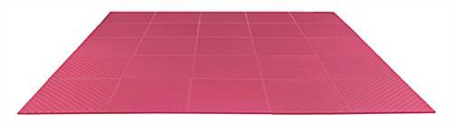 Red Trade Show Floor Tiles Interlocking Foam Mats