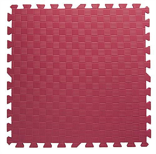 Red Trade Show Floor Tiles with Detachable Borders