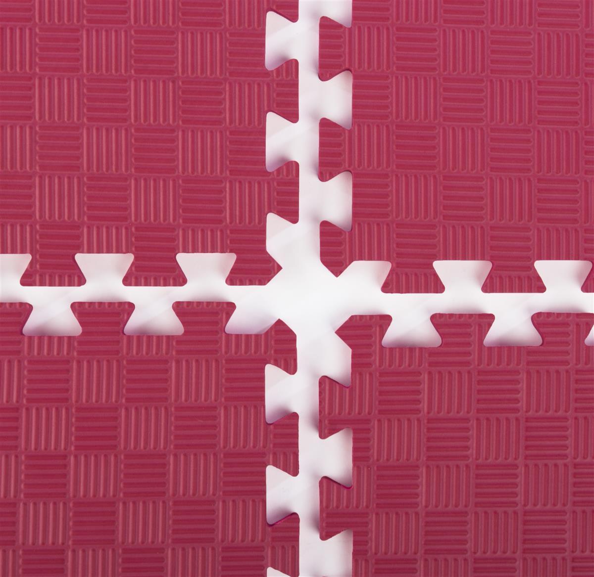 Trade Show Floor Interlocking Mats Red Foam W Stamped