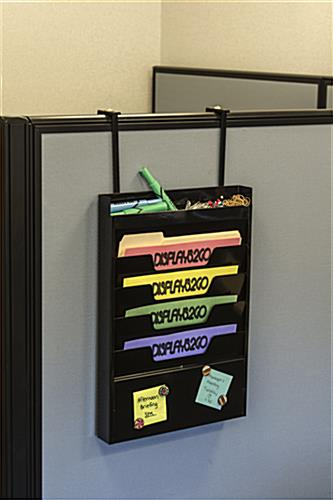 Wall File Hanger With Hanger Accessory for Cubicles