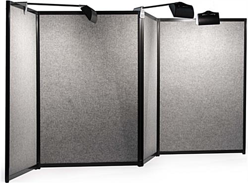 Double Sided Folding Panel with Halogen Lights