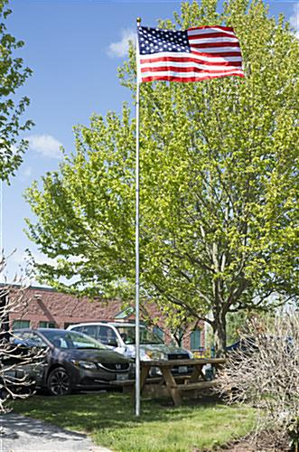 Silver Telescoping Flagpole