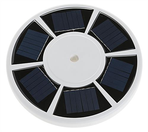 Solar flagpole light with 6 panels
