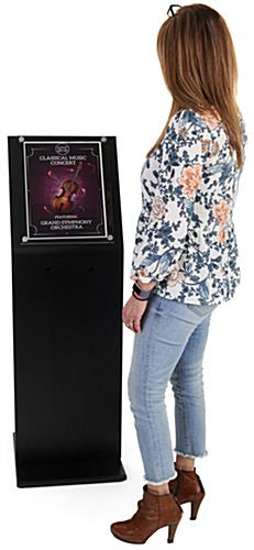 Large Black Laminate Sign Stand Measures 15 Inches Wide by 47 Inches Tall