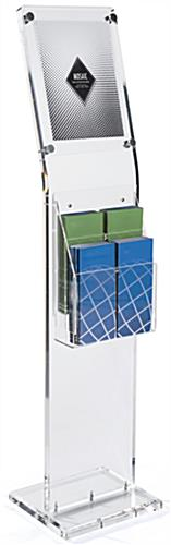 Catalog Rack: Acrylic w/2-Tiered Adjustable Pocket