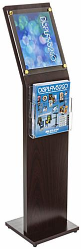 8.5 x 11 Directory Sign with Brochure Holder for Catalogs