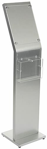 8.5 x 11 Sign Kiosk with Brochure Holder & Acrylic Lens