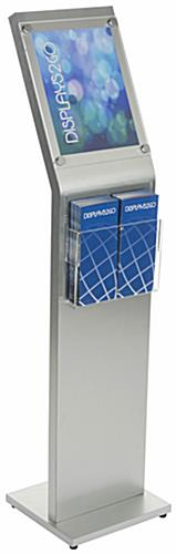 8.5 x 11 Sign Kiosk with Brochure Holder for Leaflets