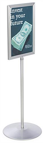 Sign Frames With Telescoping Poles Are Height Adjustable