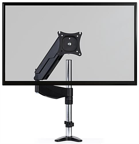 Easily repositionable articulating clamp mount monitor arm