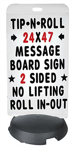 24 x 47 White Sidewalk Sign Board with Letters
