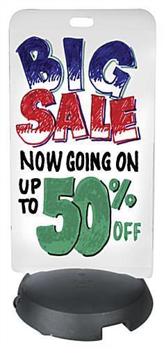 24 x 47 Whiteboard Sidewalk Sign Includes Marker Set