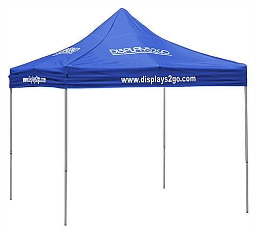 blue pop up tent