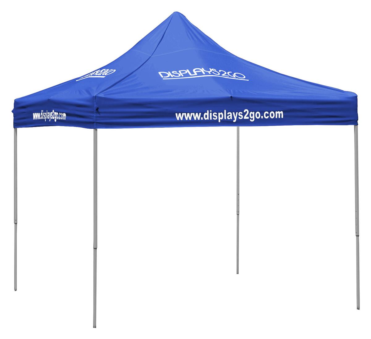 sc 1 st  Displays2go & Royal Blue Pop Up Tent | 10u0027 x 10u0027 Canopy with 8 Imprints