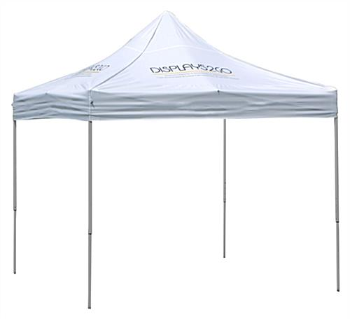 white pop up tents