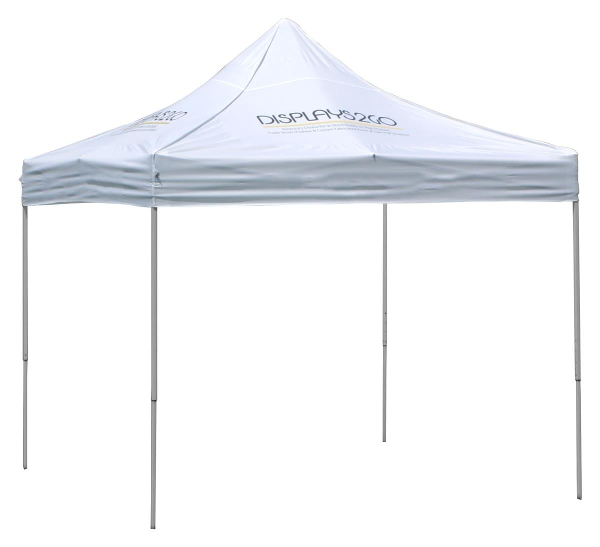 hot sale online 99a53 0a82e 10 x 10 Outdoor Canopy Tent with 4 Custom Imprints, Pop-up, Square - White