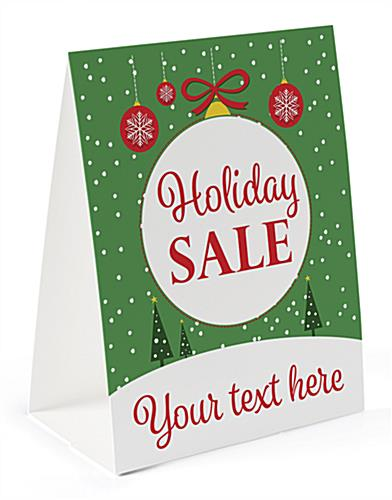 holiday sale paper table tent 8 5 x 11 double sided print