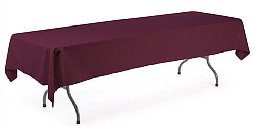 burgundy table drape