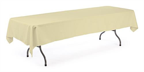 Banquet Table Cloth Ivory Cover For 8 Ft Tables