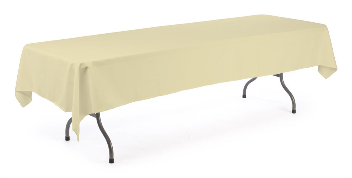 banquet table cloth ivory cover for 8 ft tables. Black Bedroom Furniture Sets. Home Design Ideas