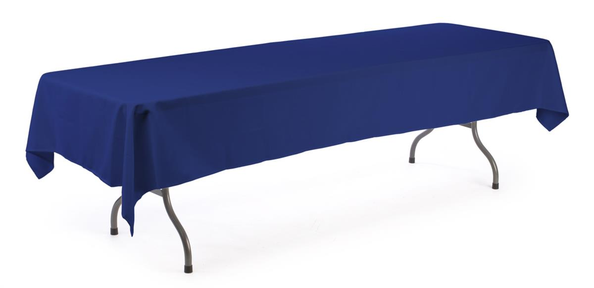 banquet table cloth royal blue cover for 8 ft tables. Black Bedroom Furniture Sets. Home Design Ideas