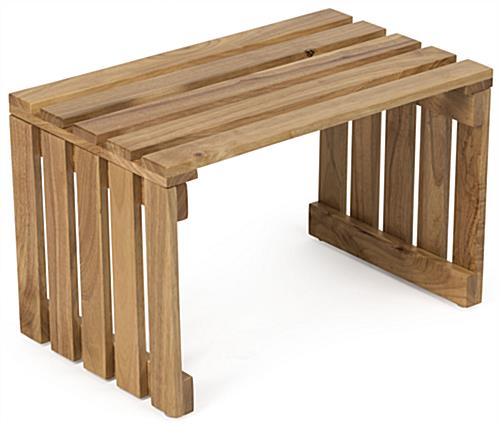 Wood Slat Table for Grocery Stores