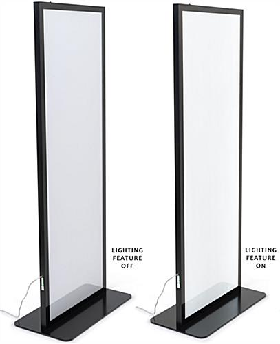 Illuminated Floor Poster Stand with 98 inch Clear Power Cord