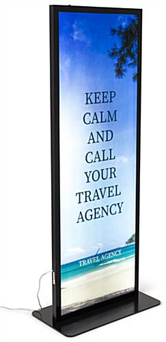 LED back lit illuminated floor poster stand