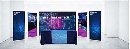 20' trade show display package on display