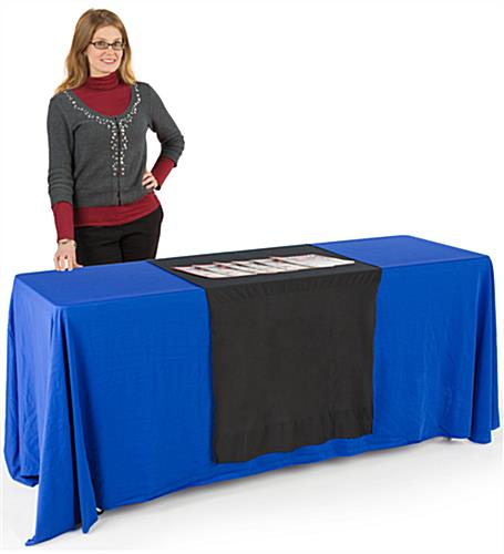 Polyester Black Plain Table Runner