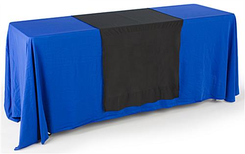 Flame-Resistant Black Plain Table Runner
