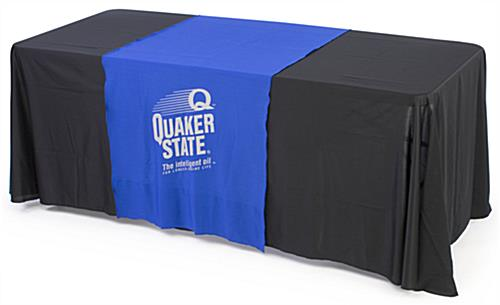 custom table runner with imprint