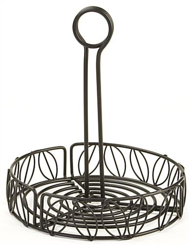 condiment caddy for tables with decorative wire designs