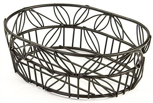 Round Wire Basket For Displaying A Variety Of Merchandise
